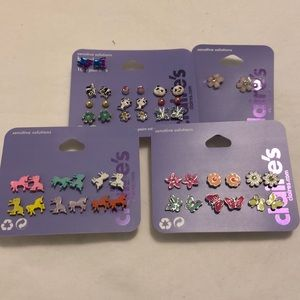 NWT Claire's Little Girl Earring Bundle